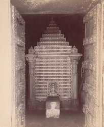 Sahasrakuta or altar of the small temple in the Pancha Pandava Tuk, Satrunjaya.